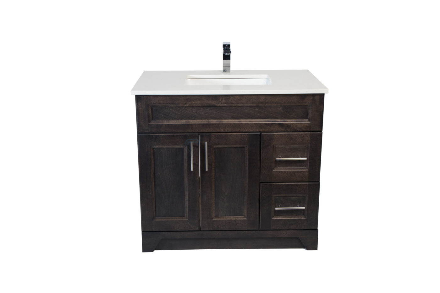 Royal Collection Modern Shaker Grey 36 Inch Vanity With Left Right Drawers Noble Vanity