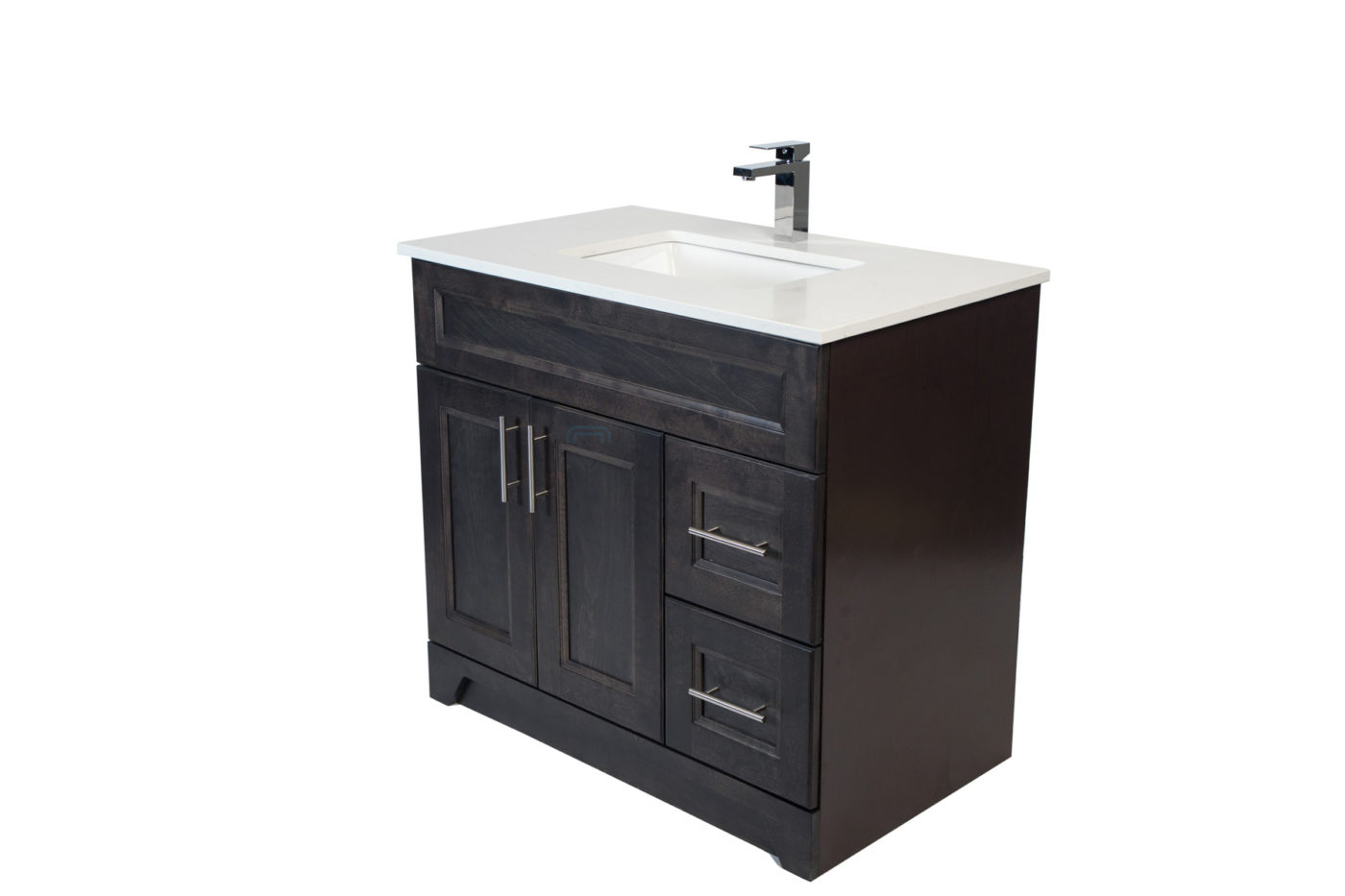Royal Collection: Modern Shaker Grey 36-inch Vanity with ...