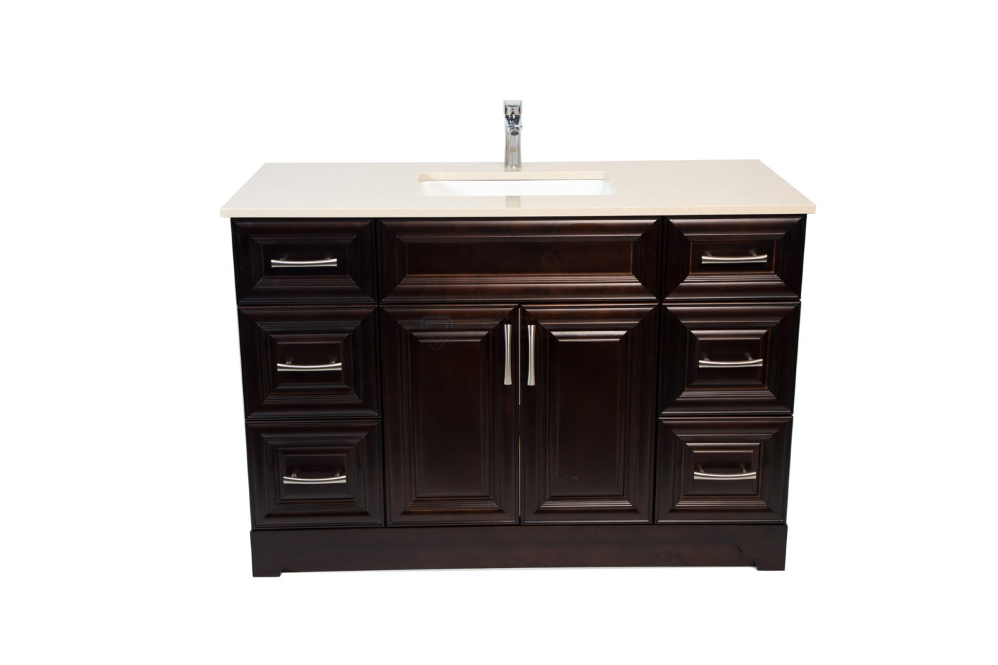 Royal Collection Queen Espresso 48 Inch Vanity With 6 Drawers Noble Vanity