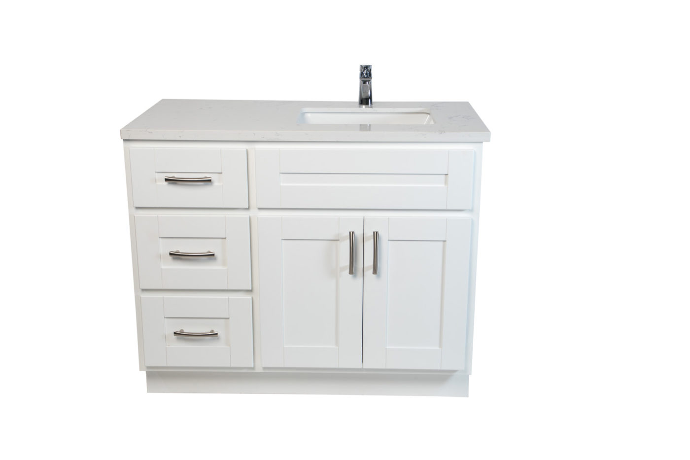 Ghazania Collection Espresso 42 Inch Vanity With Left Drawers Noble Vanity