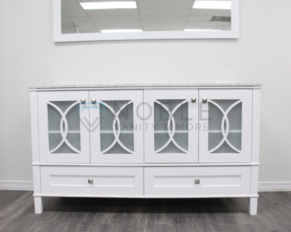 Florence VAnity 60 Inches White Double Sink Vanity